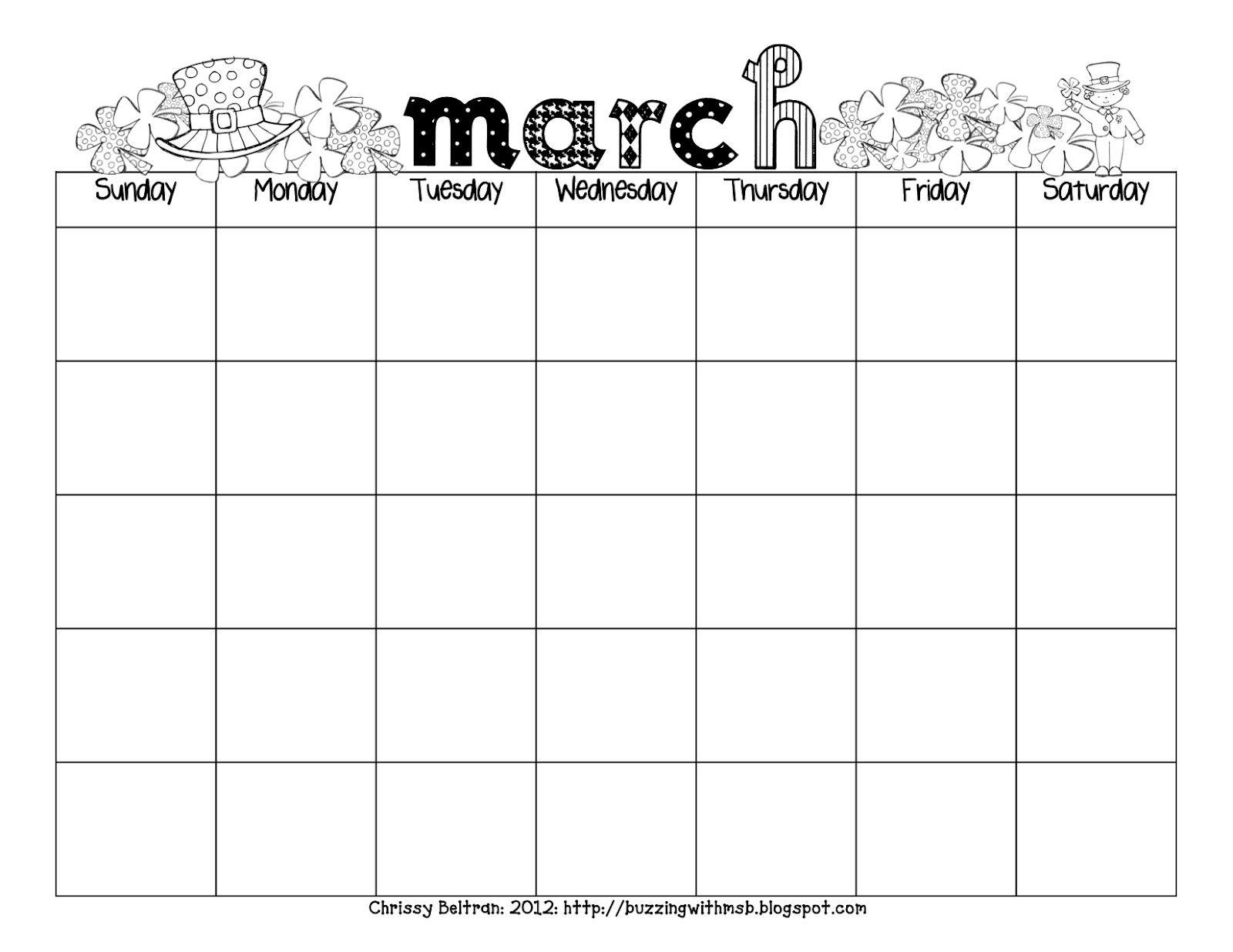Carson Dellosa Printable Calendars | Want A March Calendar