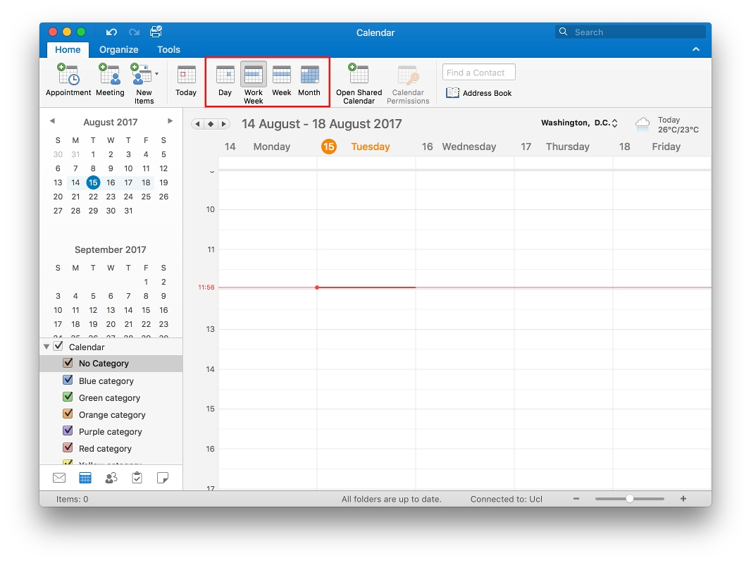 Change The Calendar View In Outlook 2016 For Mac