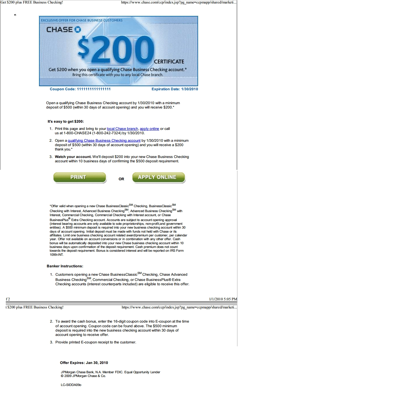 Chase Coupon Codes - Earn Up To $800 In Bank Bonuses