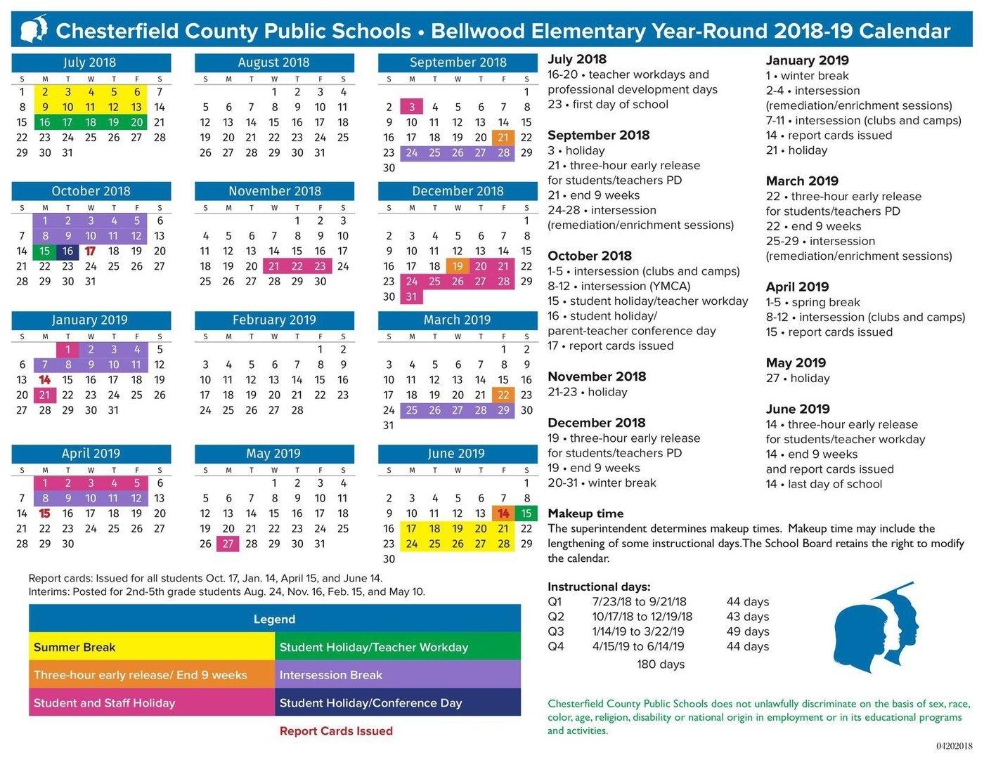 Chesterfield's Bellwood Begins Year-Round School July 23