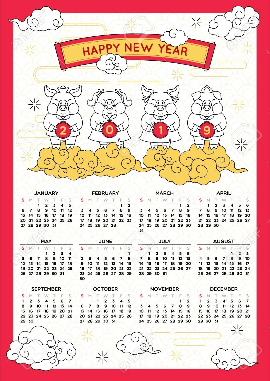 Chinese New Year Calendar. Chinese New Year 2020 (Dates