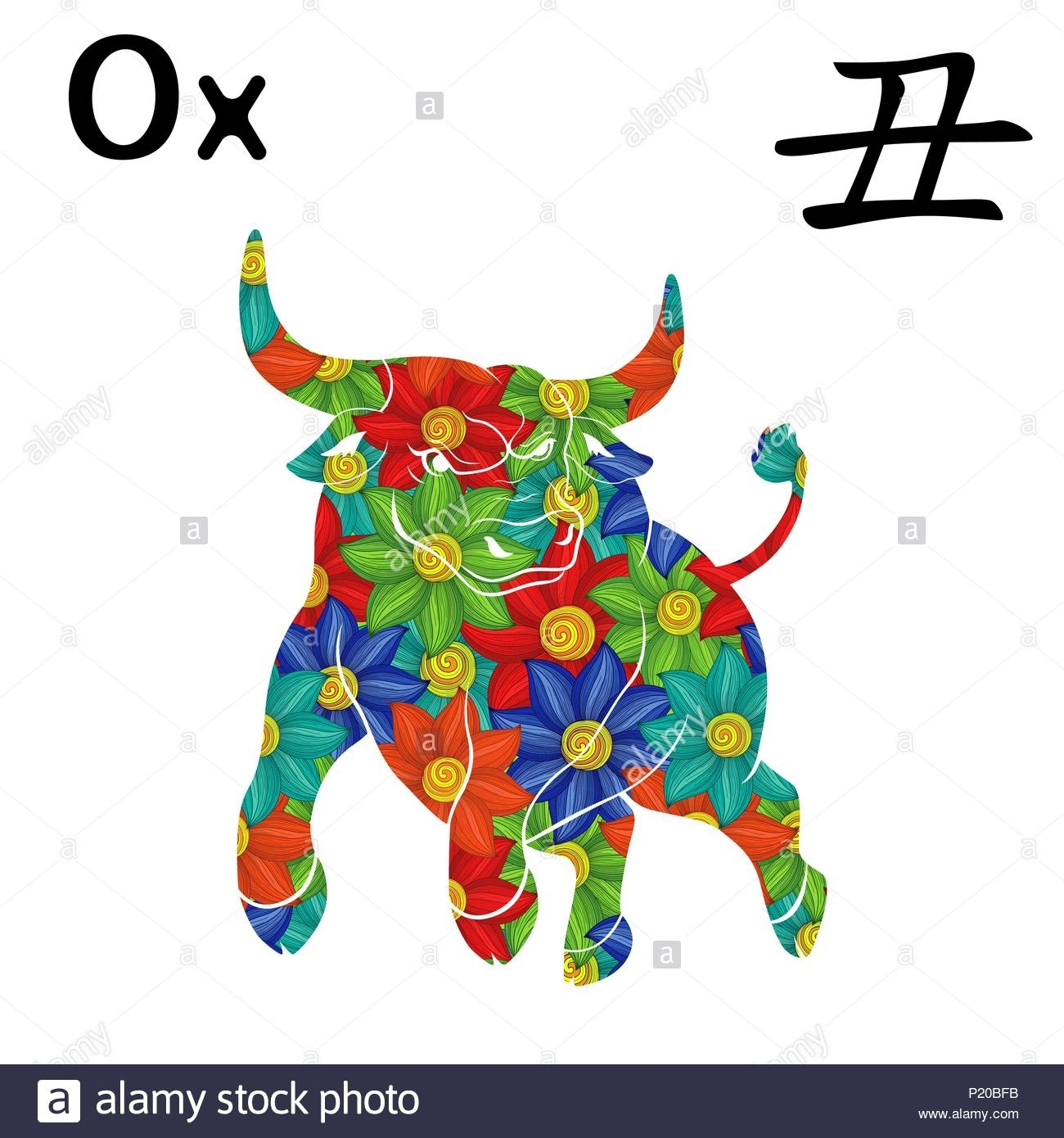 Chinese Zodiac Sign Ox, Symbol Of New Year On The Eastern
