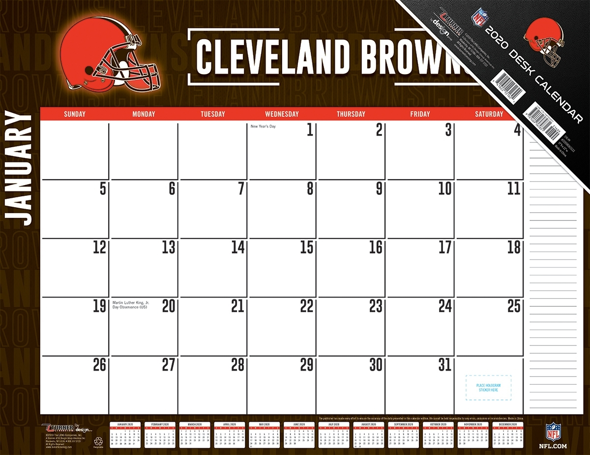 Cleveland Browns 2020 Nfl 22 X 17 Desk Calendar - Buy At Khc Sports