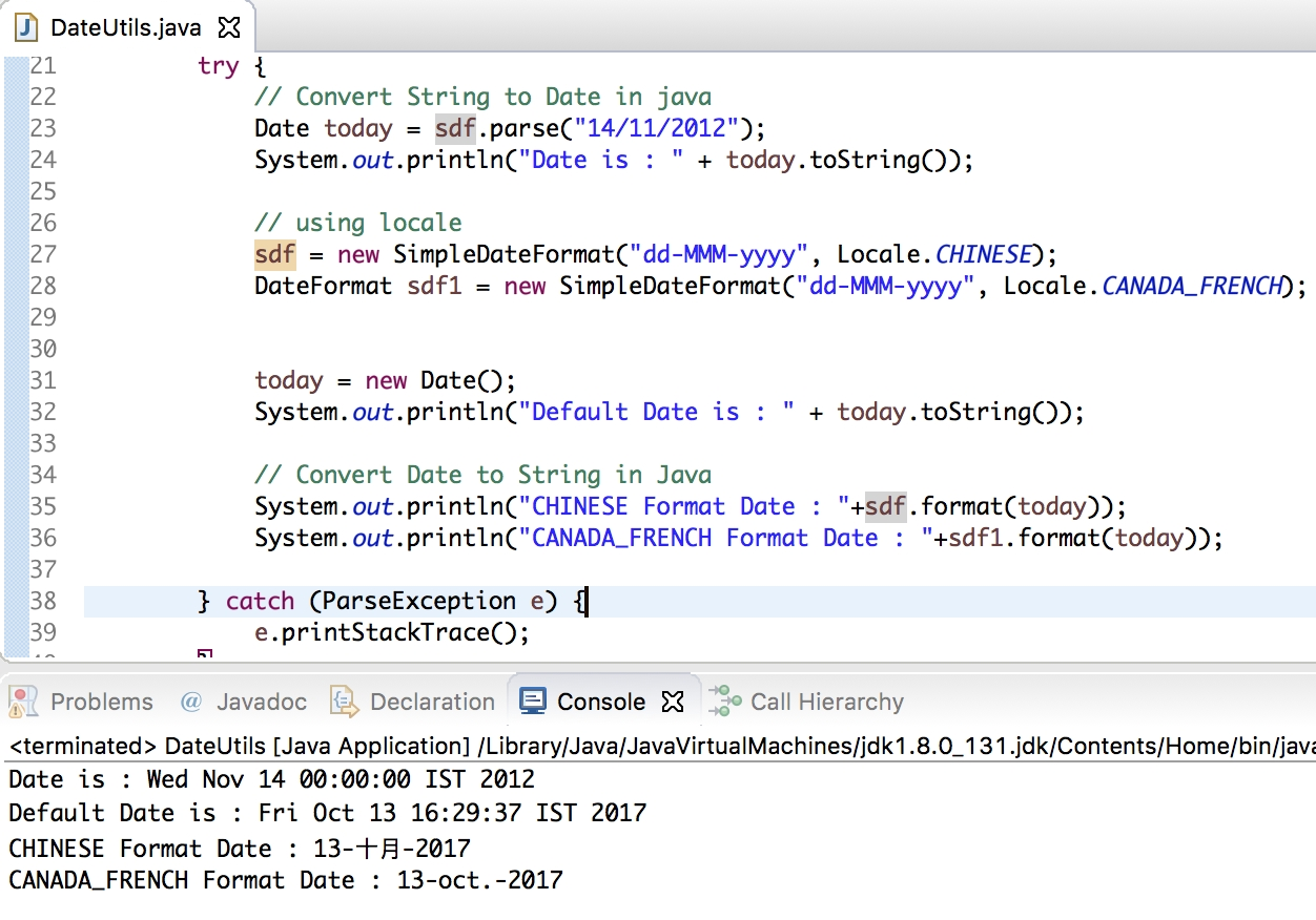 Convert String To Date, Date To String In Java - Journaldev