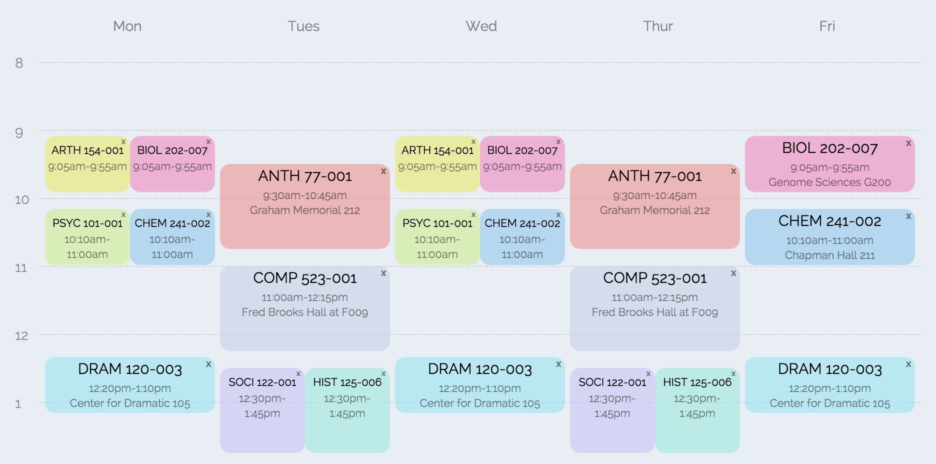 Coursicle   Plan Your Schedule And Get Into Classes