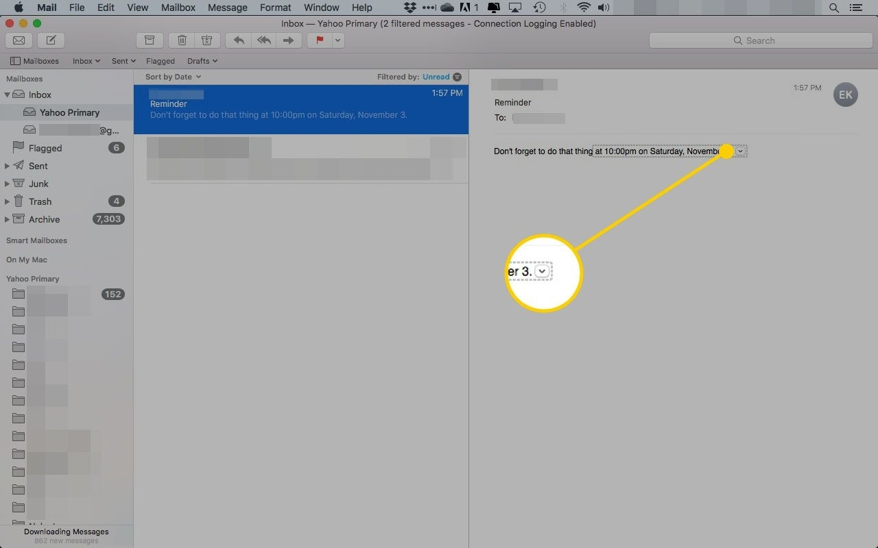 Create A Calendar Event From An Email In Mac Os X Mail