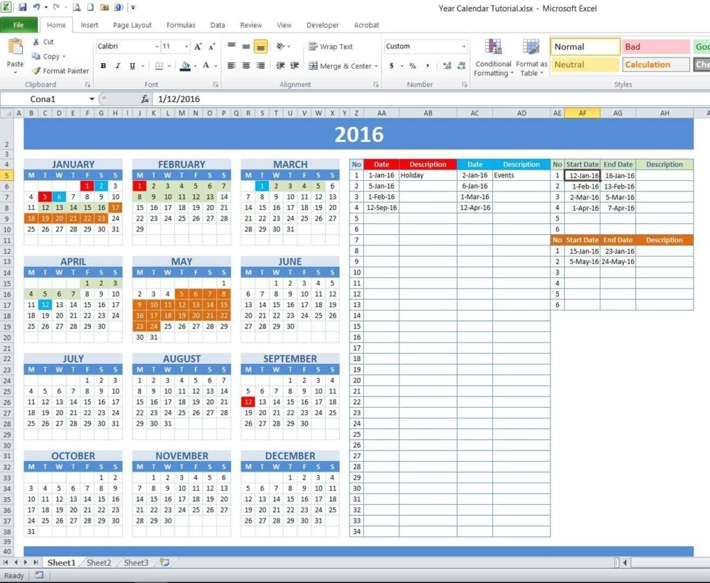 Create Calendar Year | Free Printable Calendar Pages 2012