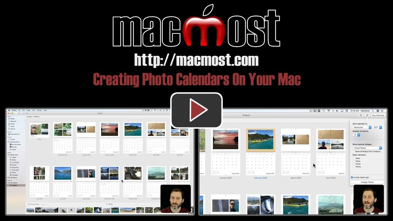 Creating Photo Calendars On Your Mac