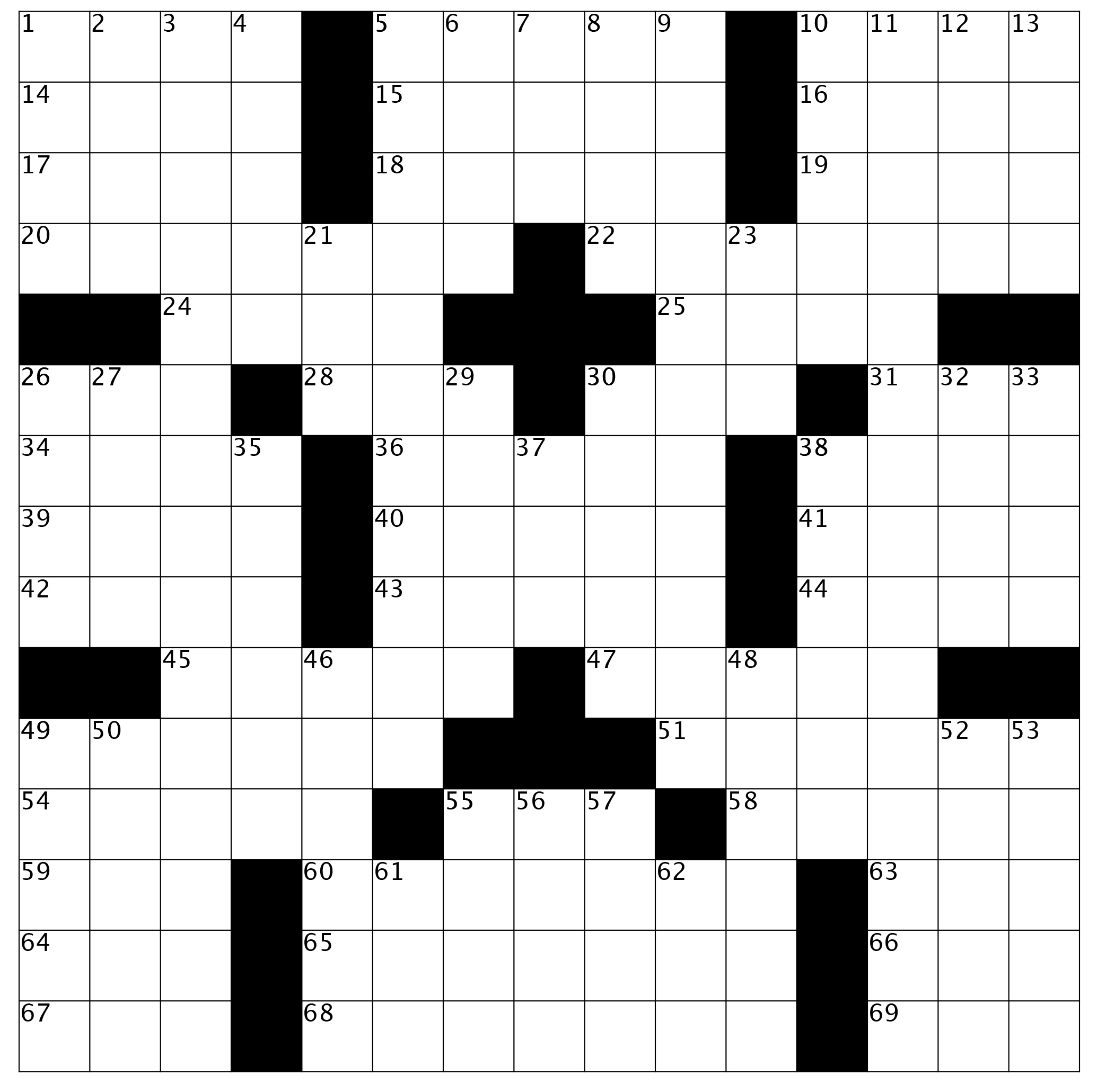 """Crossword Puzzle: Issue 62 - December 2018 - """"coming To A"""