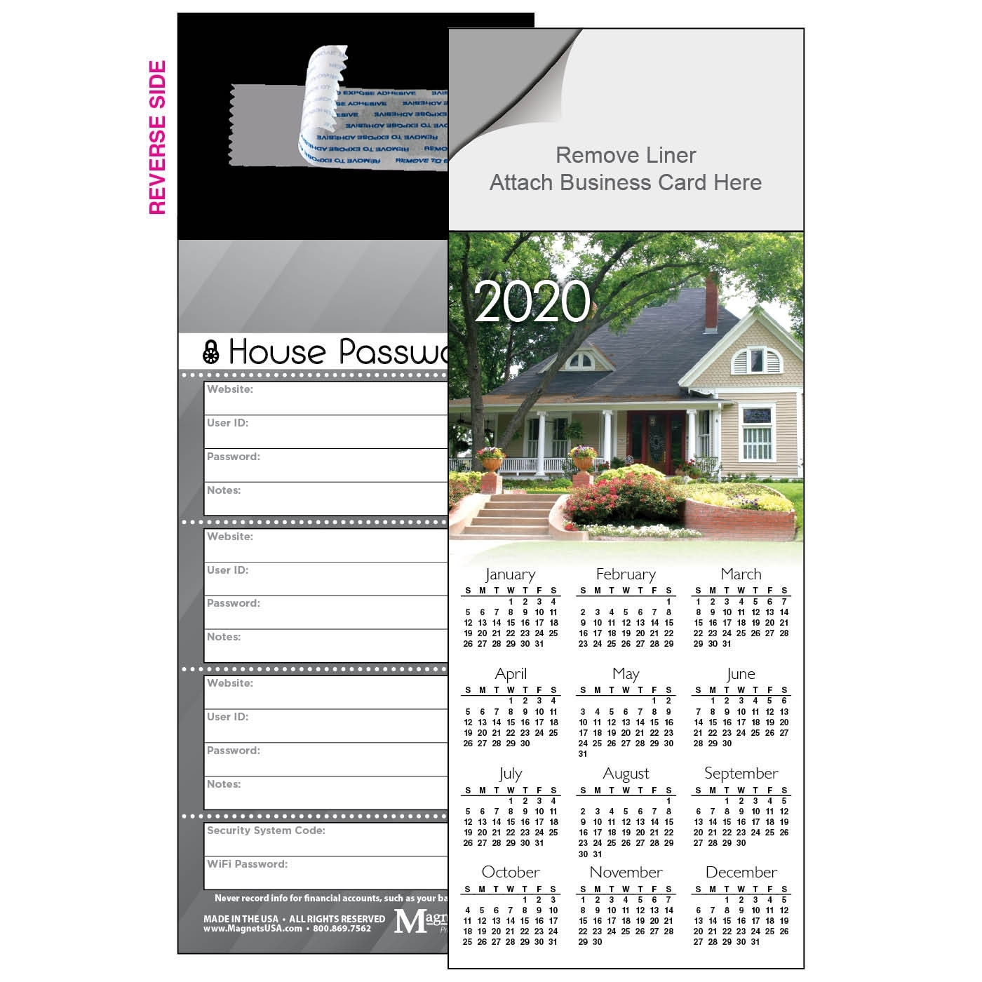 Curb Appeal Year-At-A-Glance Calendar Magnet