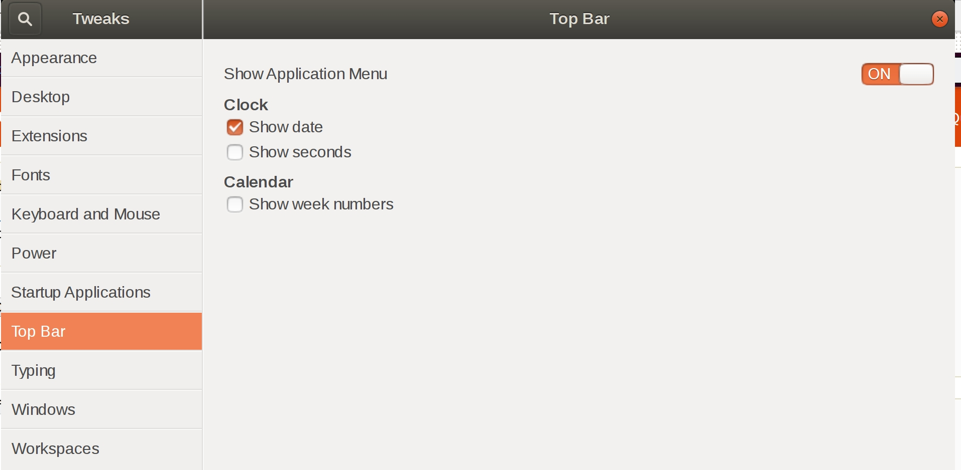 Customization - How To Disable (Hide) Weekday In Gnome-Shell