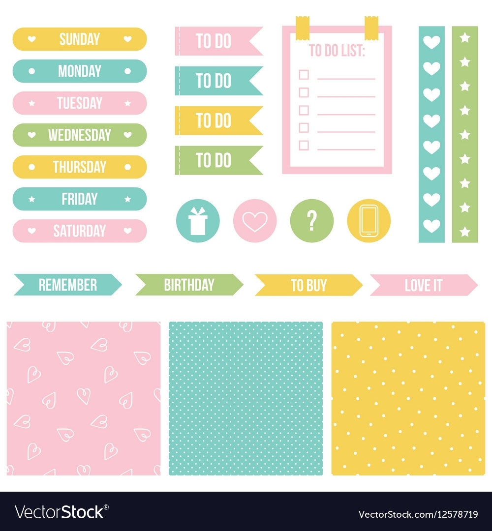 Cute Printable Stickers For Planner Organizer