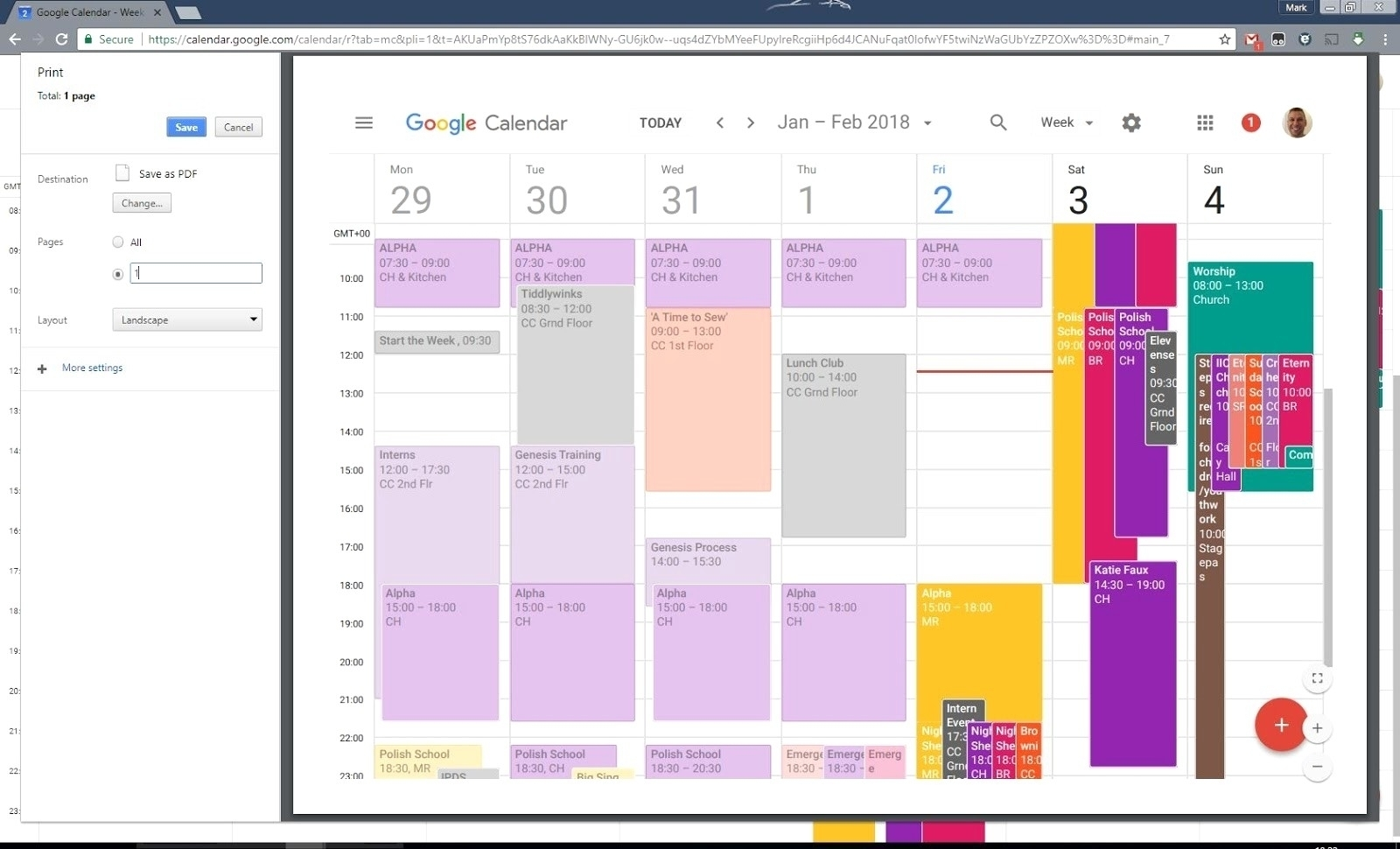 Dandy Print Google Calendar To Pdf : Mini Calendar Template