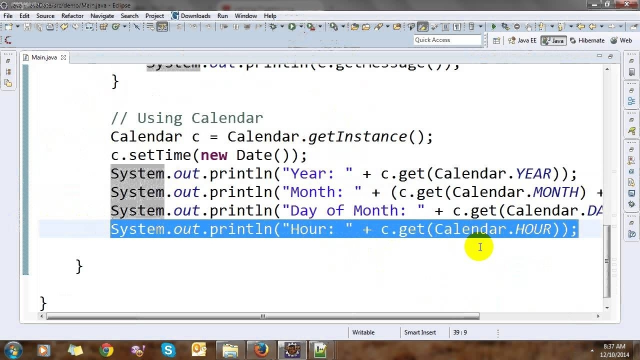 Date, Calendar And Time In Java