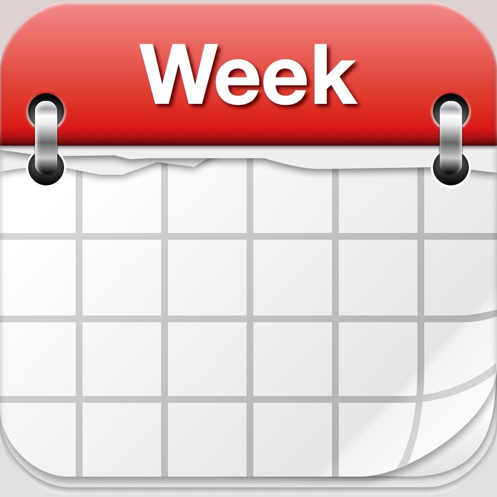 Days Of Week Calendar Clipart - Clip Art Library