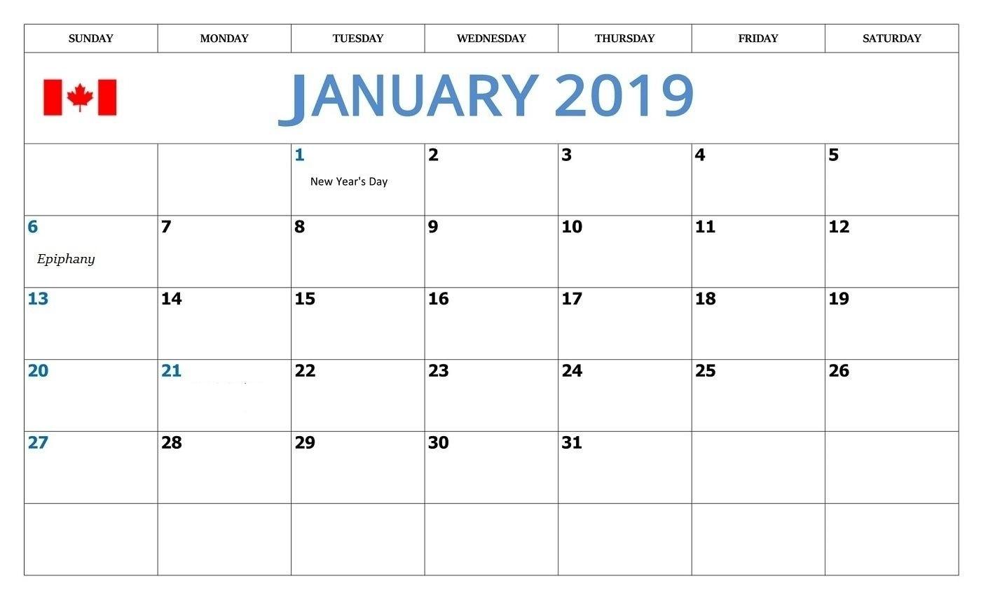 December 2019 Calendar Canada | Calendar Template
