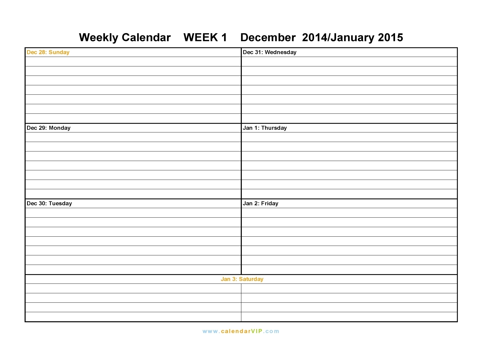 Definition Of A Calendar Week | Igotlockedout