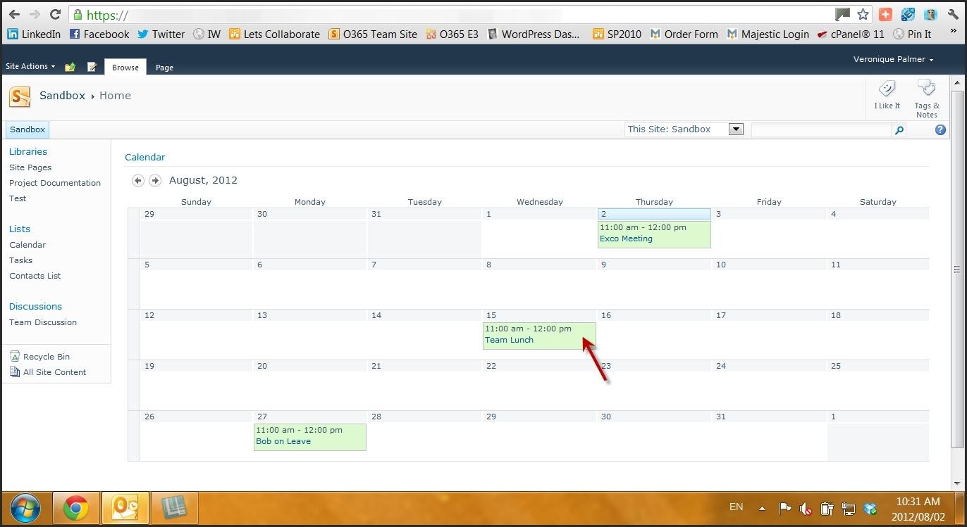 Delete / Move Sharepoint 2010 Calendar Items Without Viewing