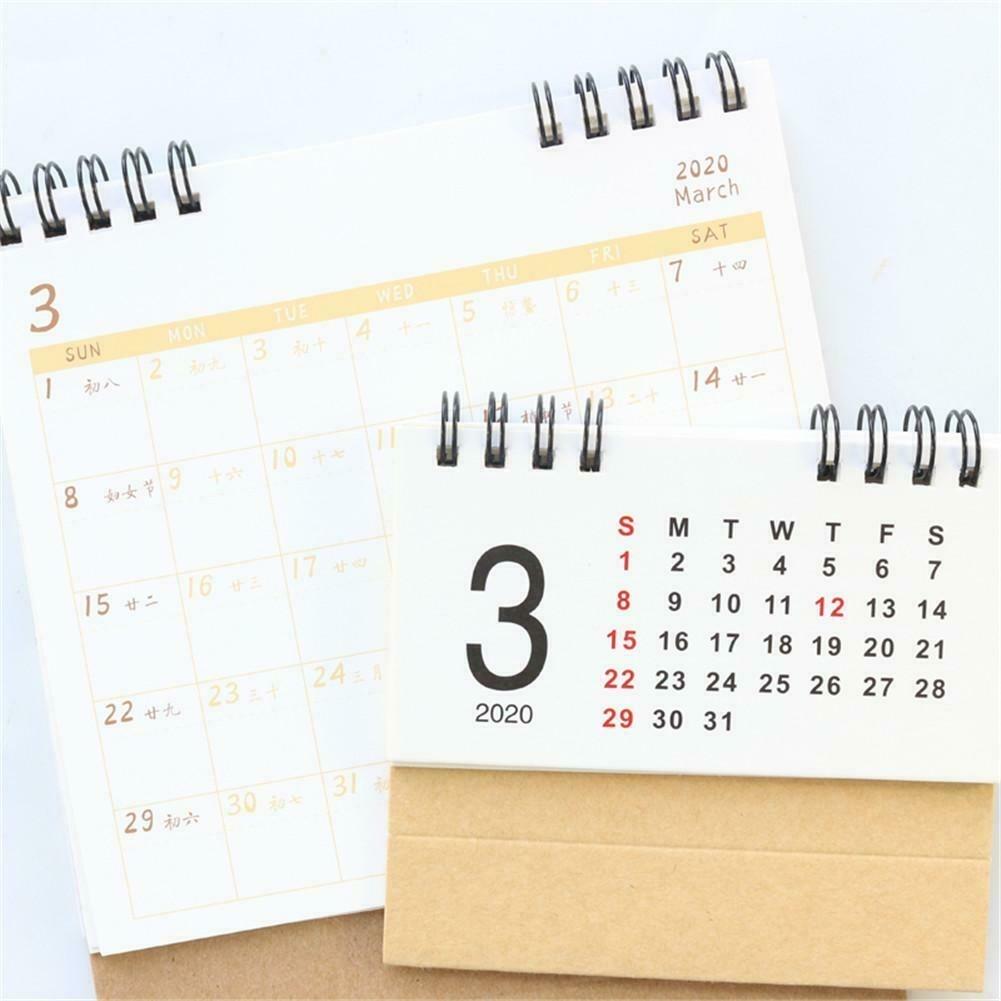 Details About Desk Calendar Desk Stand Up Calendar Runs From Aug 2019  Through Dec 2020
