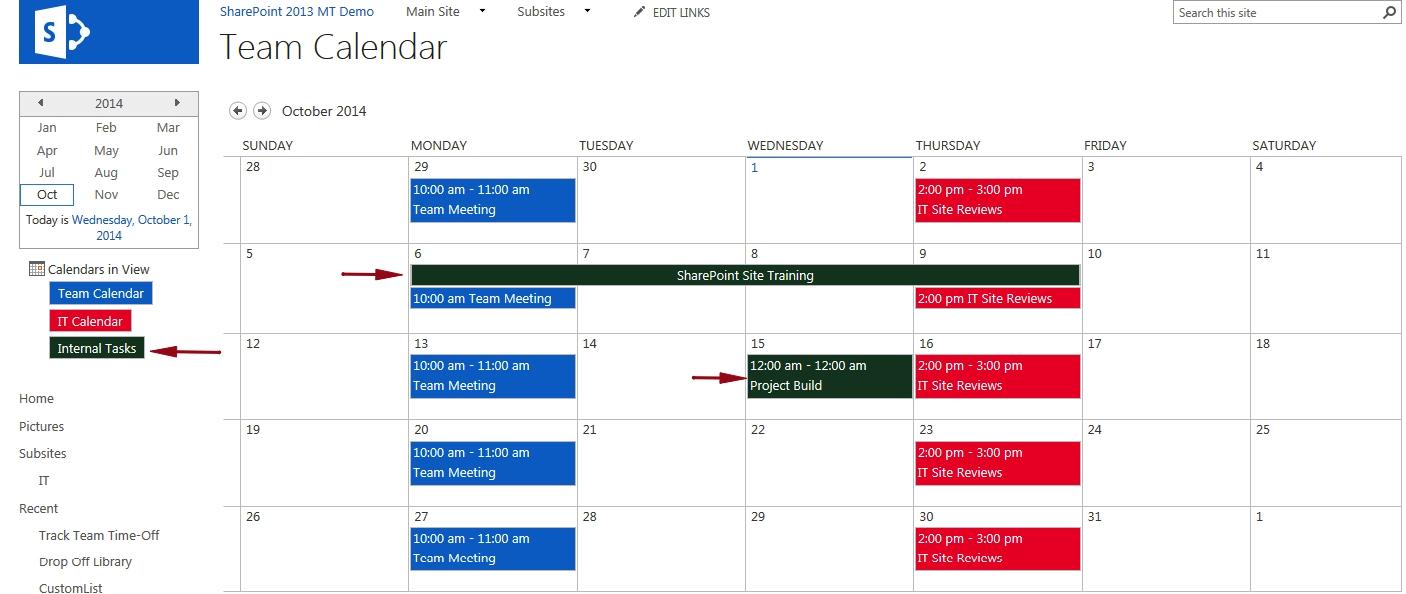 Display A Task List On A Master Calendar