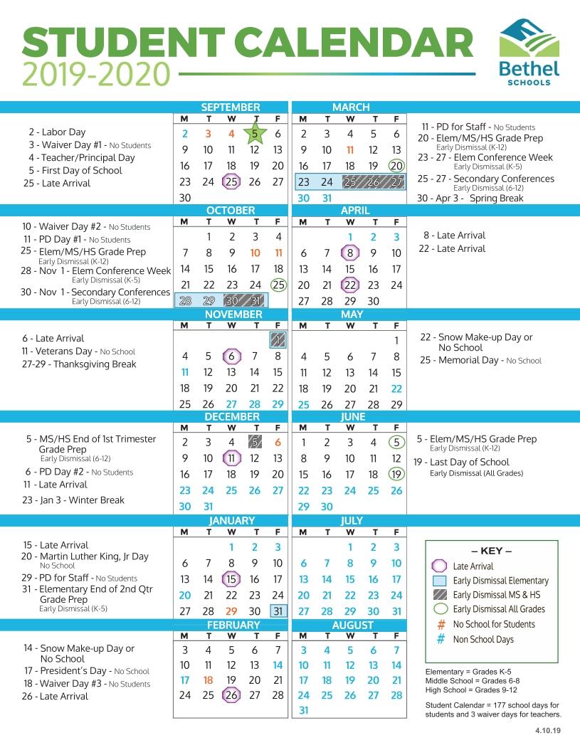 District Calendars / Home