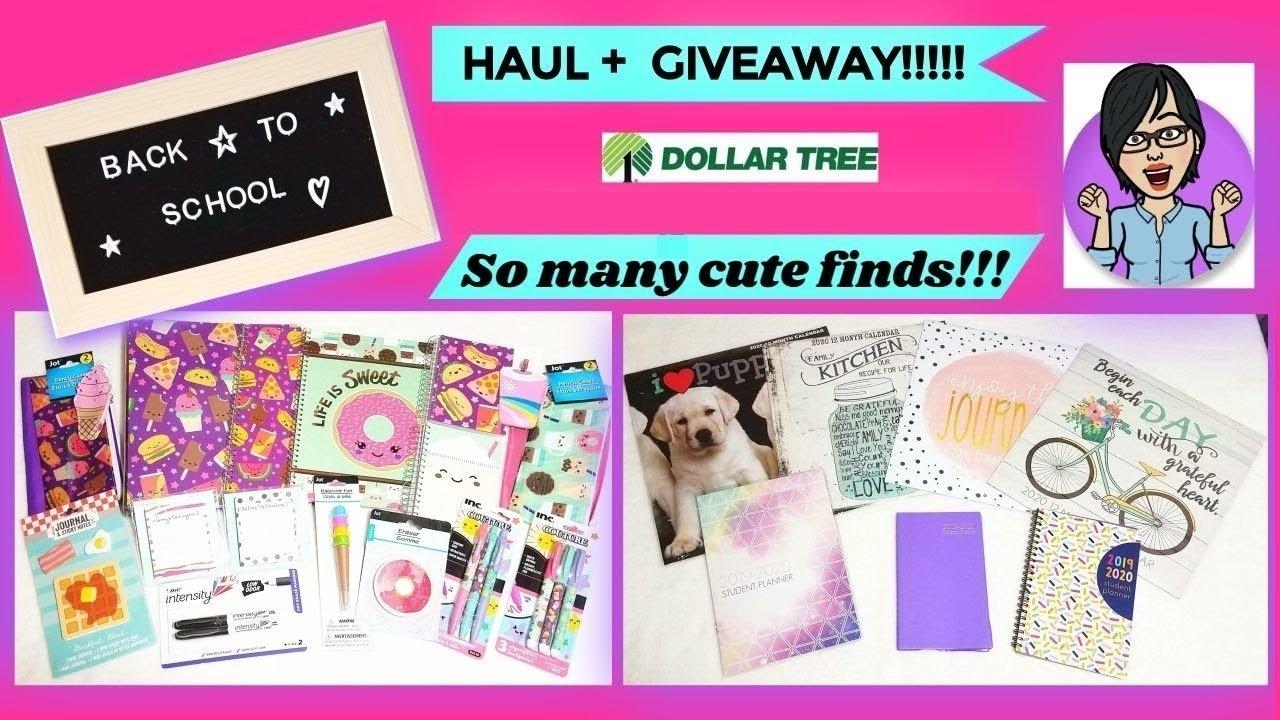 Dollar Tree Back To School Haul + Giveaway(Closed)!! 😍🍕🍩 #dollartree  #backtoschoolhaul