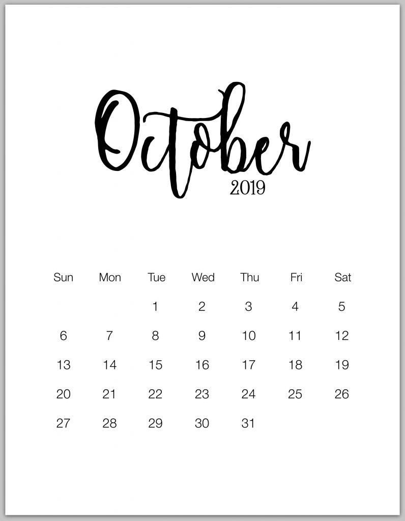 ✅ Cute October 2019 Calendar Wall Floral Pink Designs
