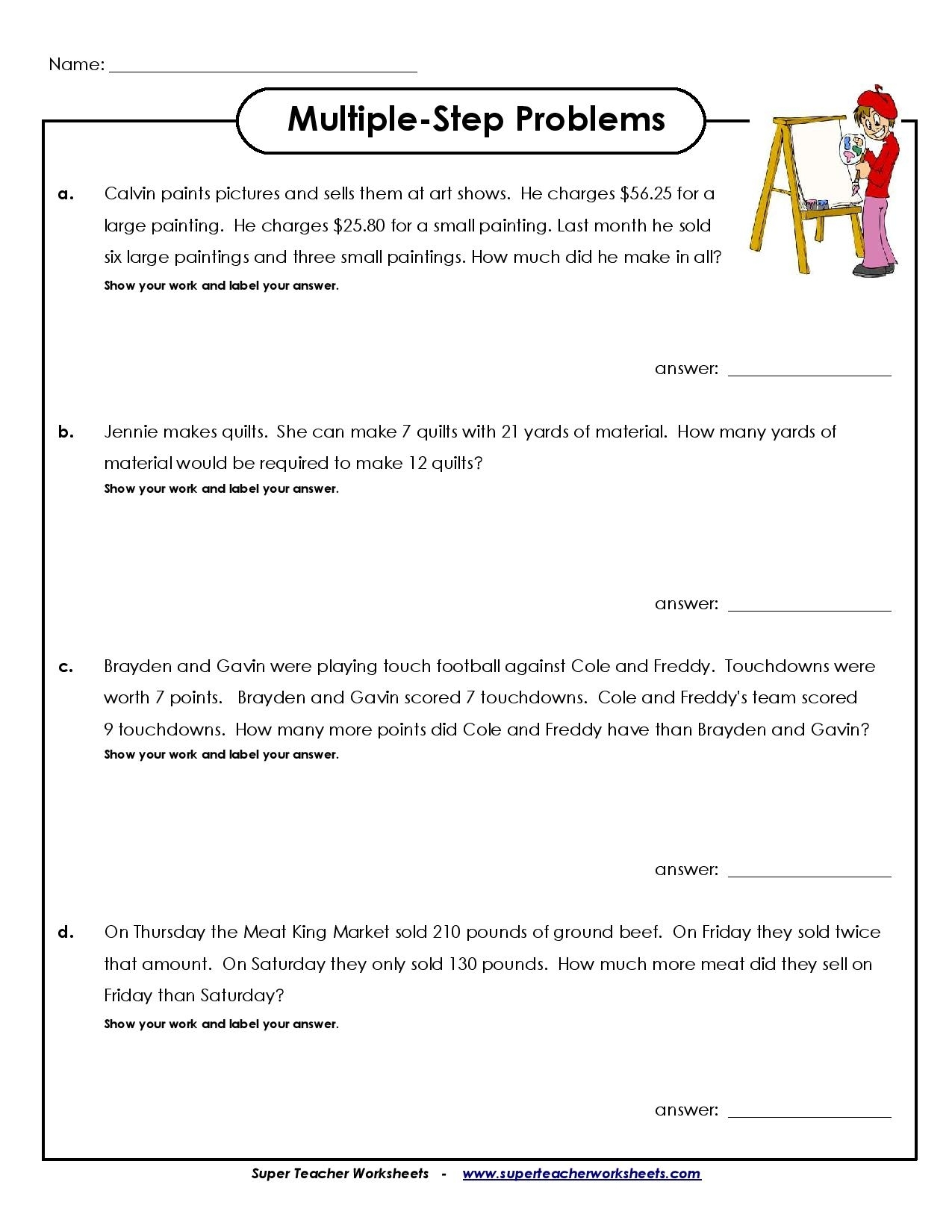 ✅Grade 4 Math Worksheets Archives - You Calendars