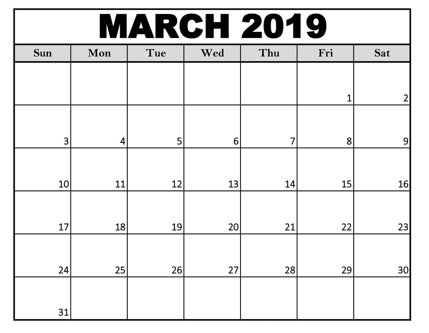 Edit March 2019 Calendar Template | 2019 Calendar, Calendar