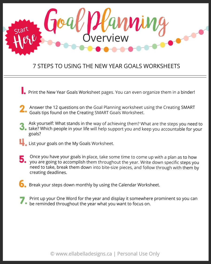 Ellabella Designs: How To Plan Your Goals And Live Your Best