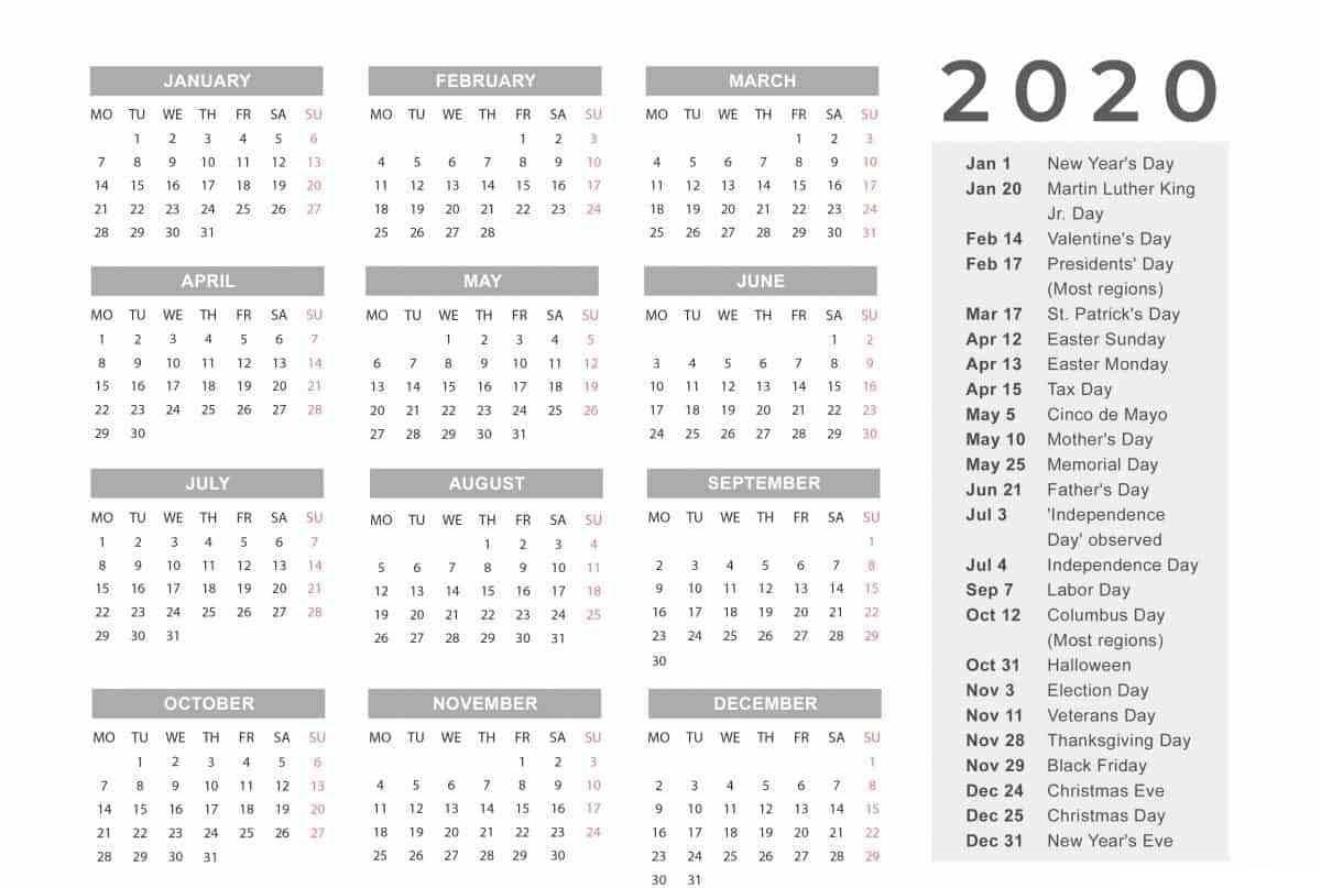 Entire Year Calendar One Page - Cerno.mioduchowski