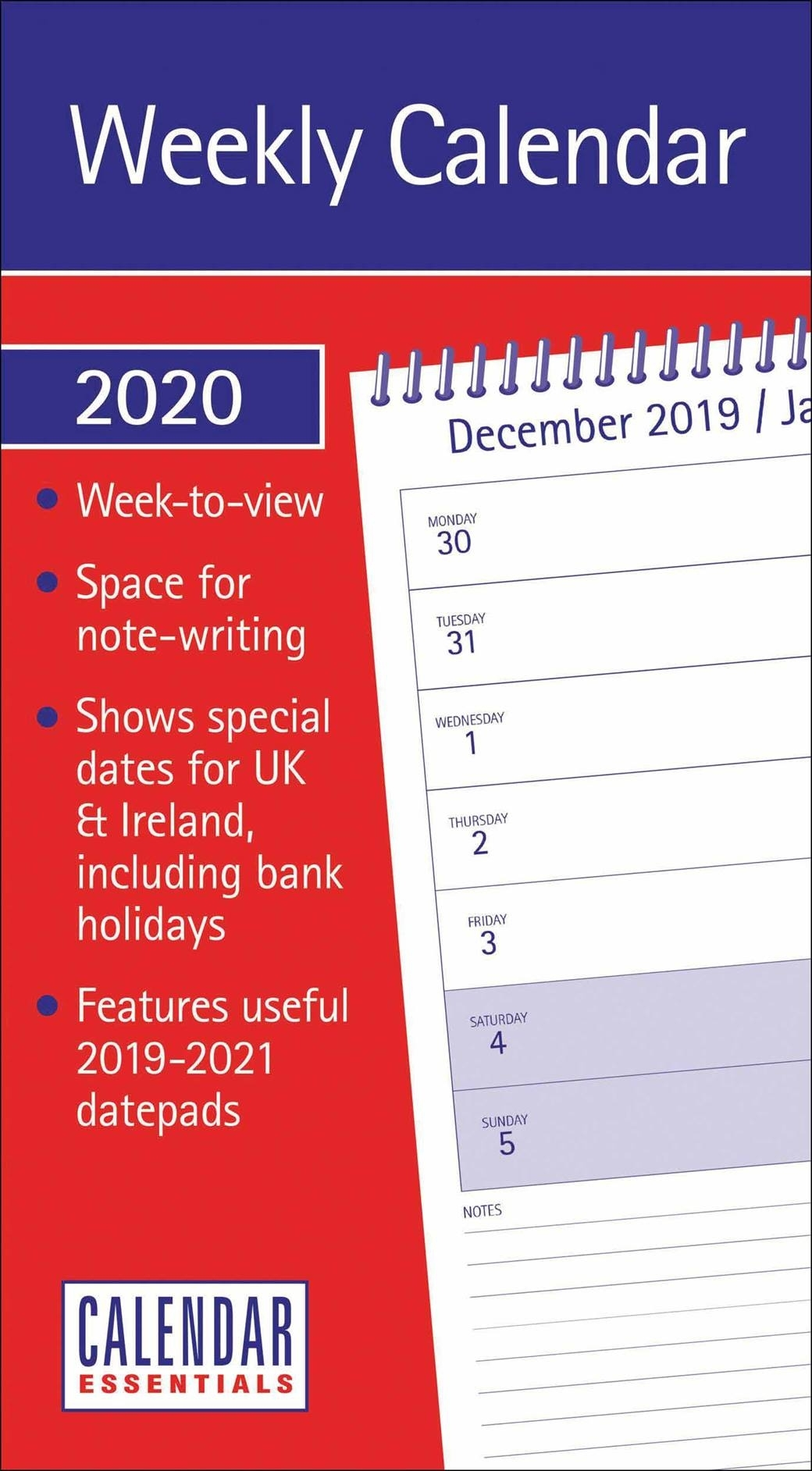 Essential Week-To-View Short Slim Calendar 2020