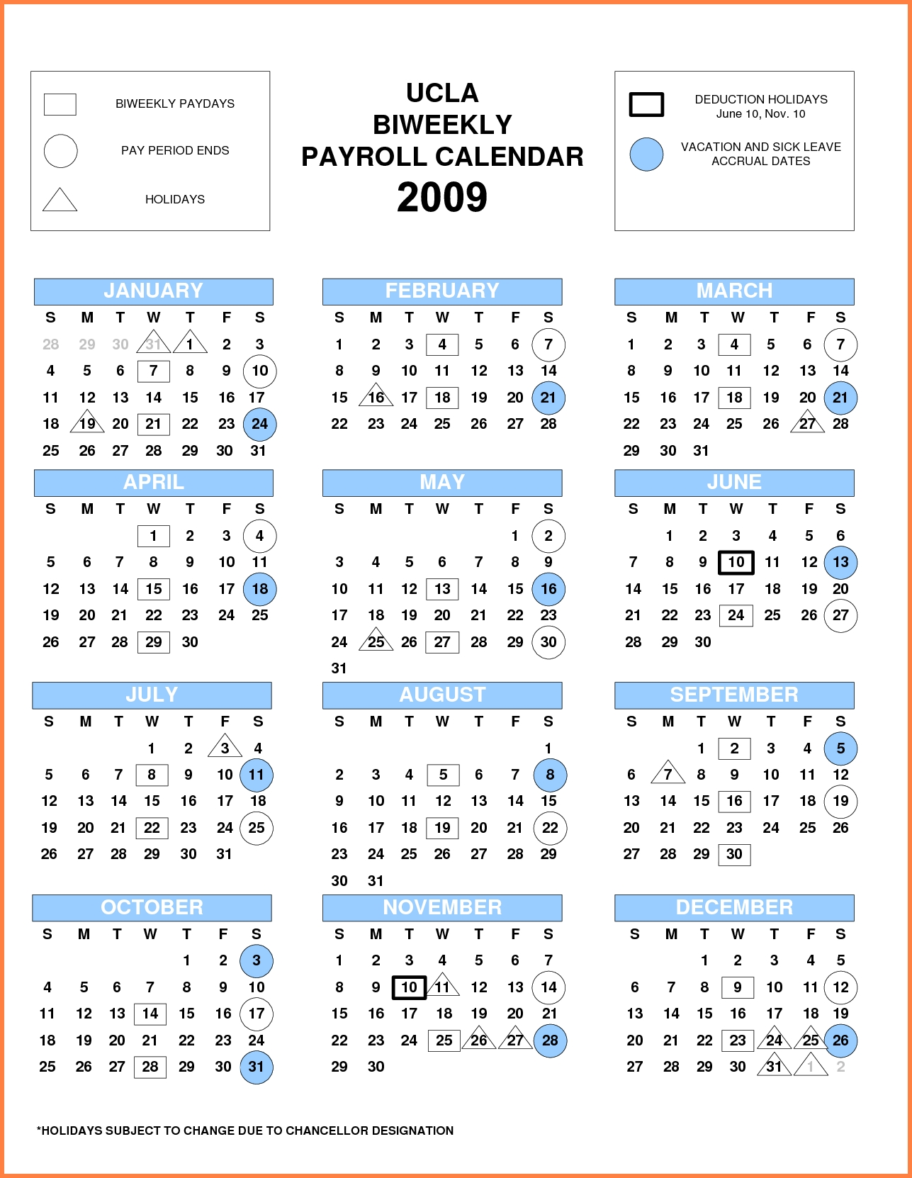 Every Two Weeks Schedule | Payroll Calendars