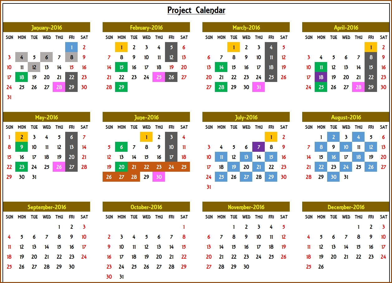 Excel Calendar Template - Excel Calendar 2019, 2020 Or Any