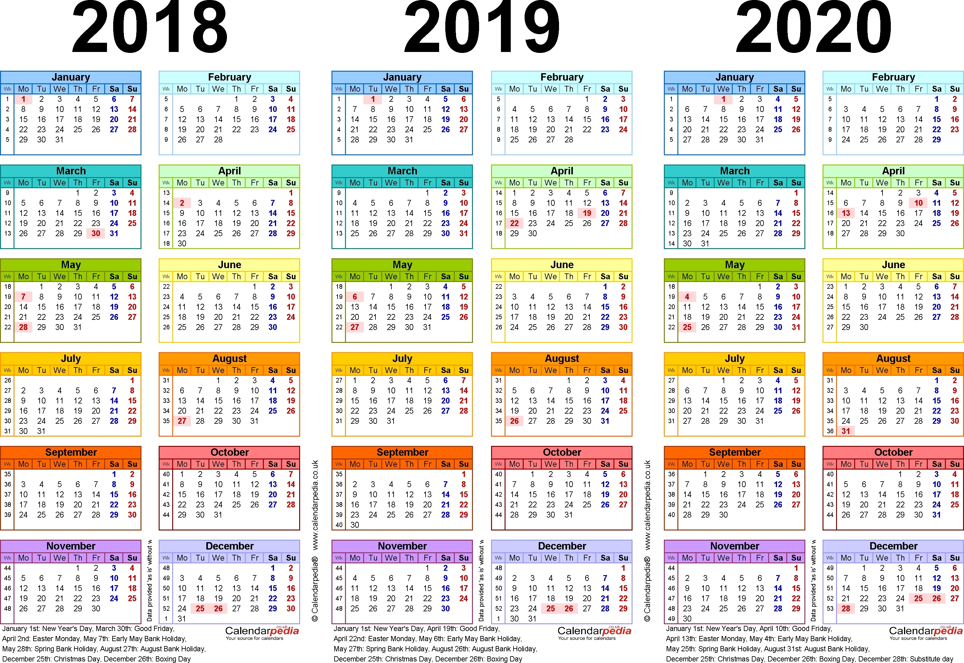 Exceptional 2020 Calendar South Africa • Printable Blank