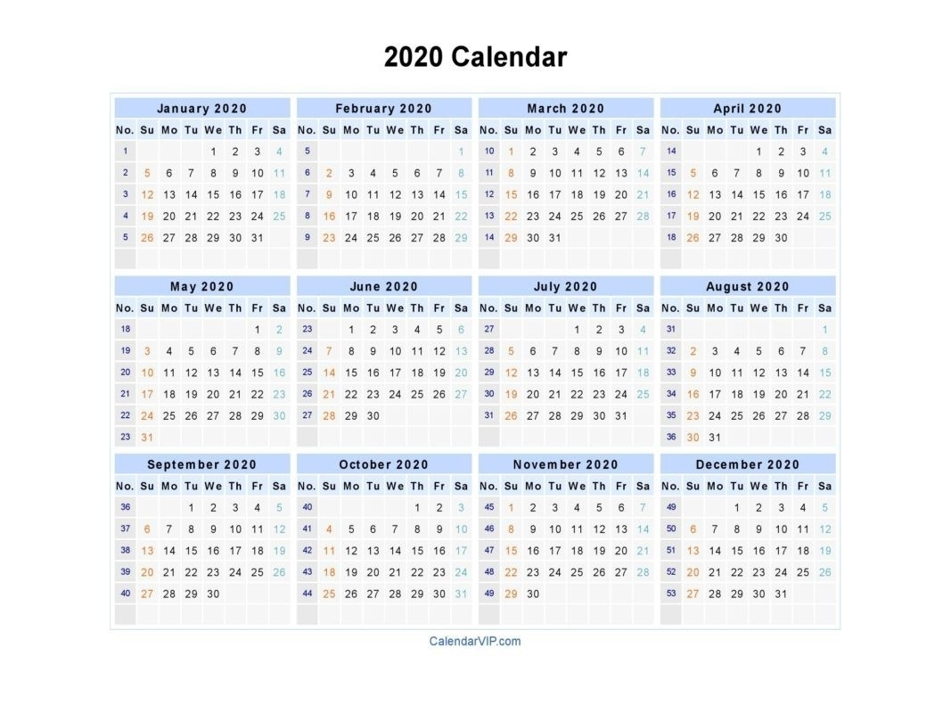 Exceptional 2020 Excel Calendar Canada • Printable Blank