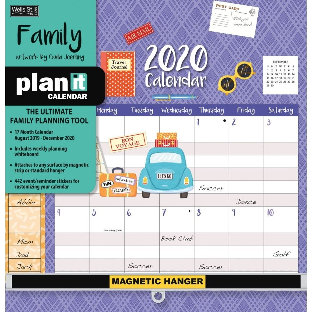 Family Plan It Plus 2020 Wall Calendar