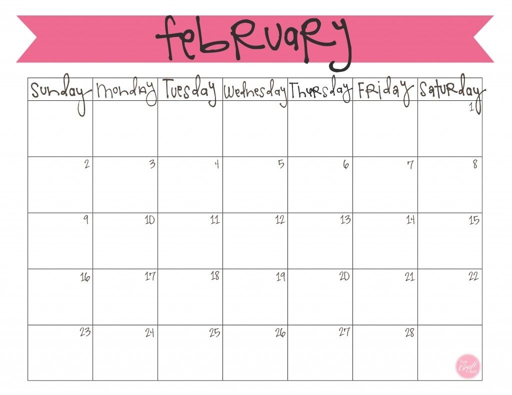 February 2014 Calendar - Free Printable | Projects To Try