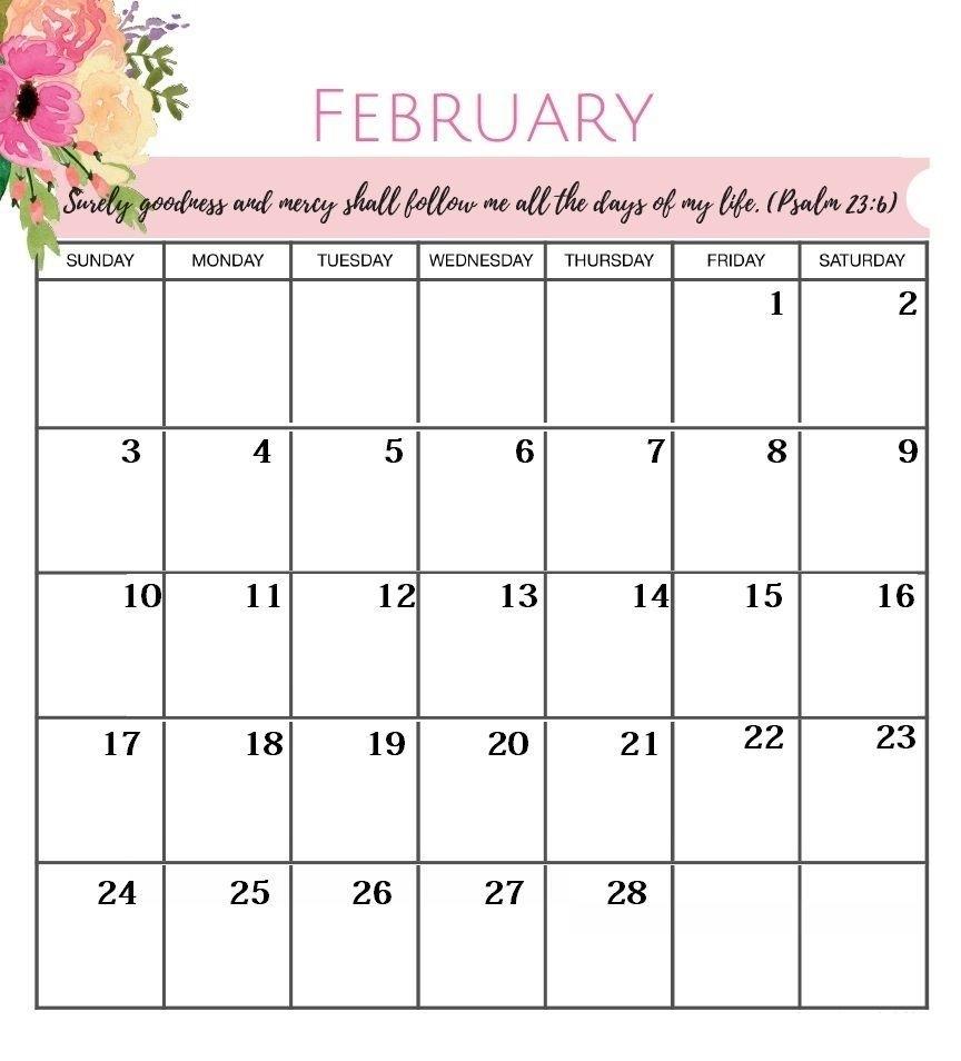 February 2019 Desk Planner Calendar #deskplanner