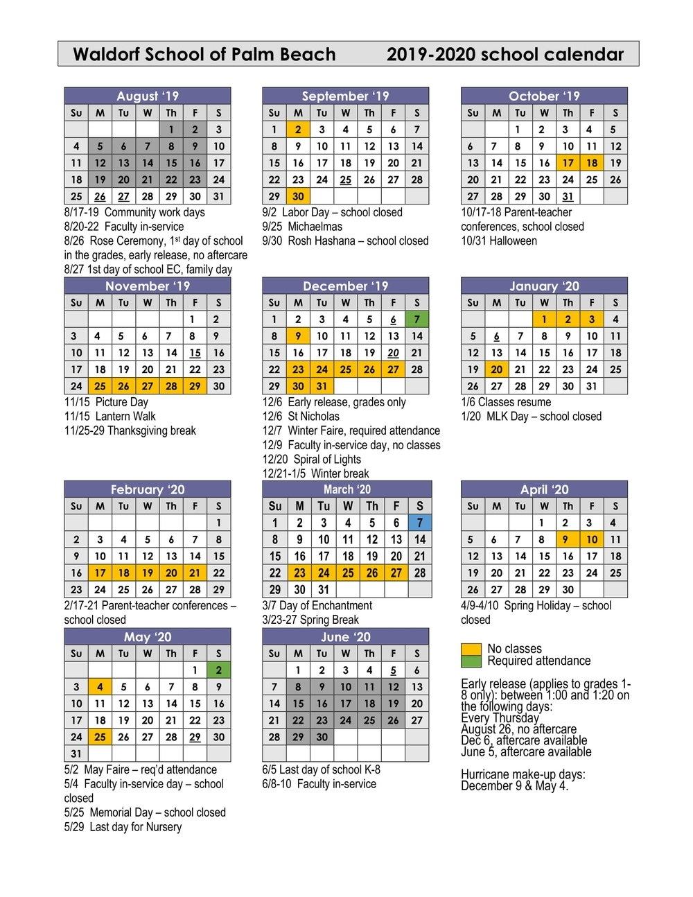 First Day Of School Grades 2019-2020 School Year — Waldorf