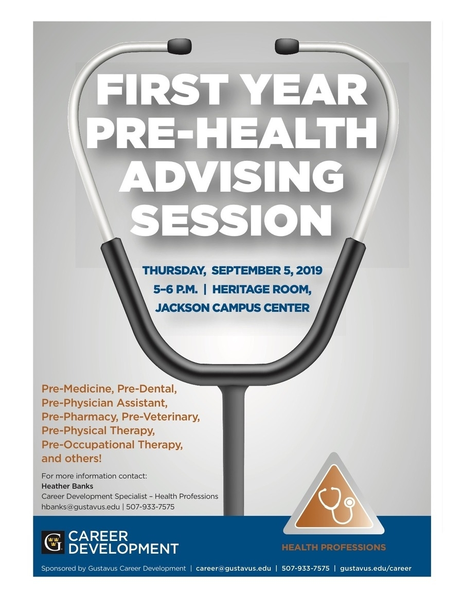 First Year Pre-Health Advising Session - September 5 At 5–6