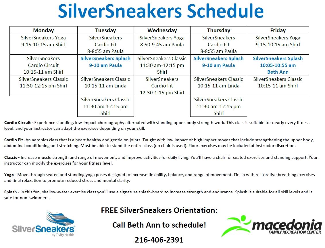 Fitness Schedule | Macedonia Recreation Center