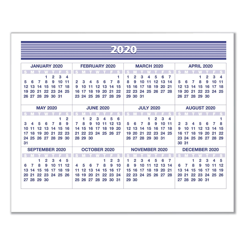 Flip-A-Week Desk Calendar Refill, 5 5/8 X 7, White, 2020