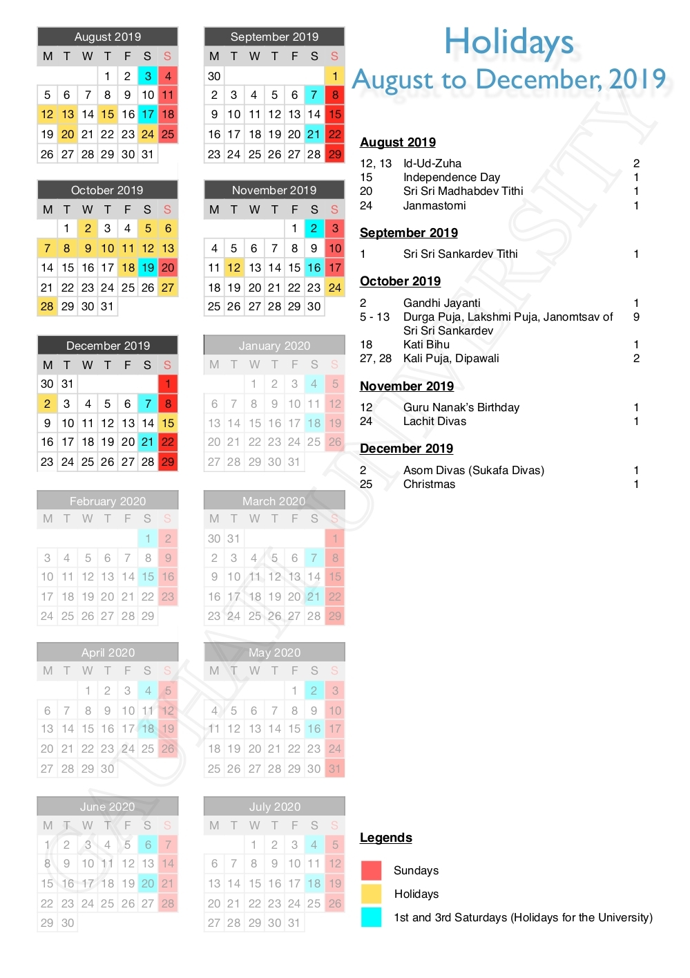 F&m Academic Calendar 2019 | Free Printable Calendar