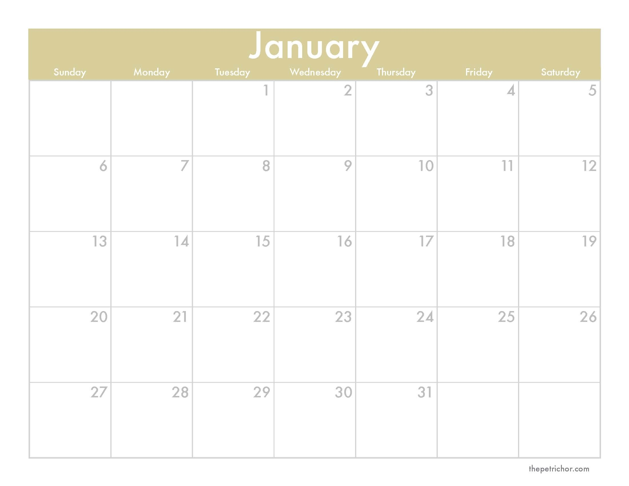 Free 2013 Monthly Calendars | A Denver Home Companion