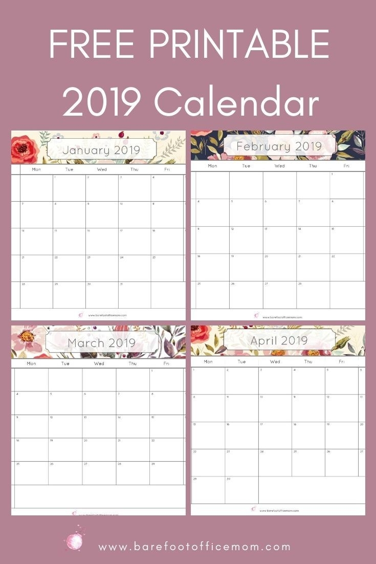 Free 2019 Calendar Printable Pdf | Daily Planner Printable