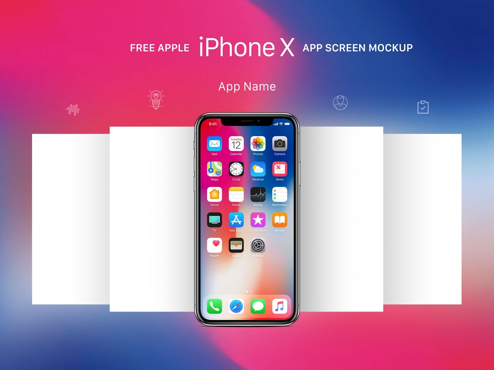 Free Apple Iphone X App Screen Mockup Psd - Good Mockups