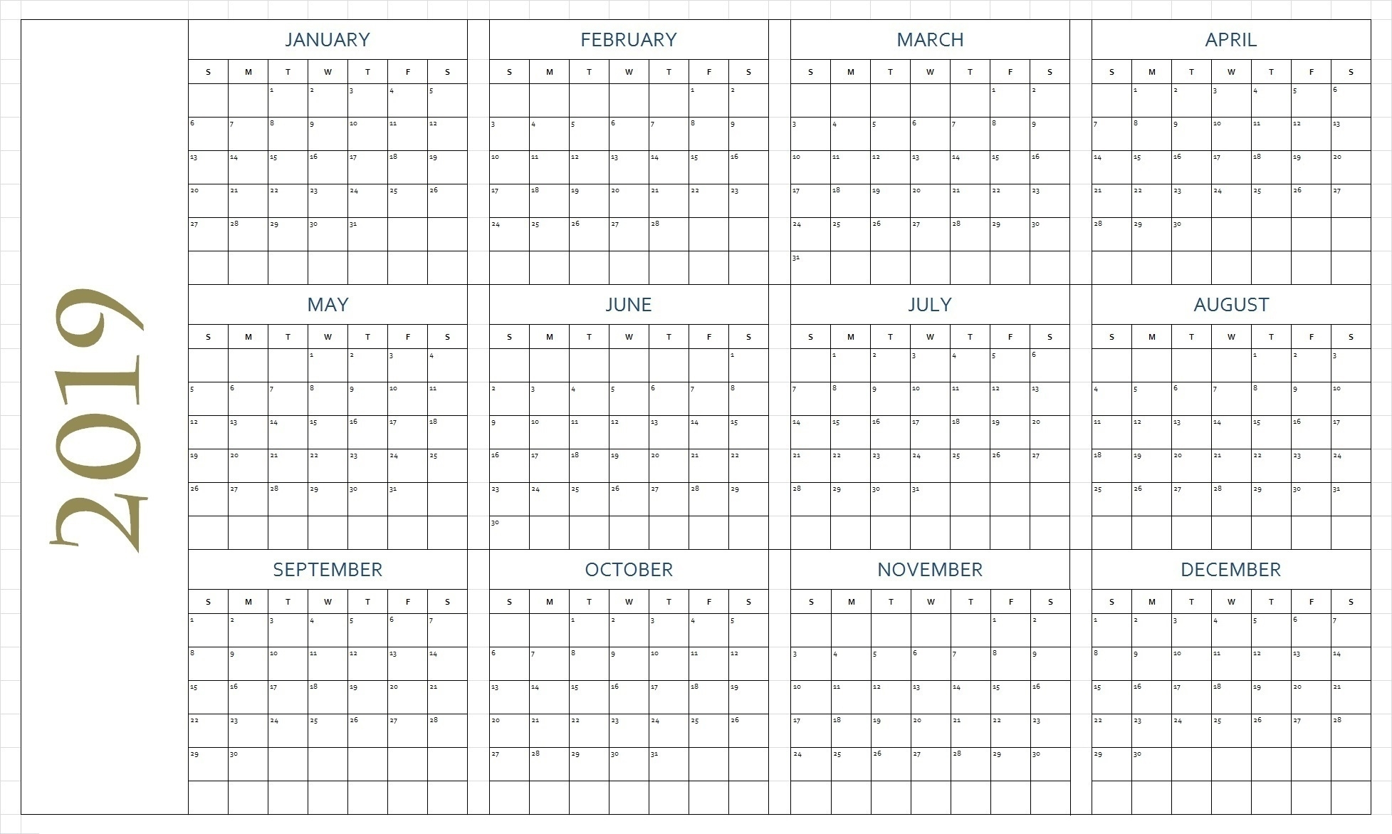 Free Blank Printable Calendar Pages - Free Printable