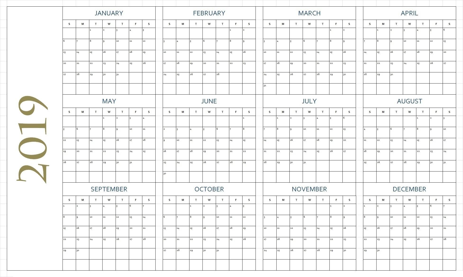 Free Blank Printable Calendar Pages - Free Printable