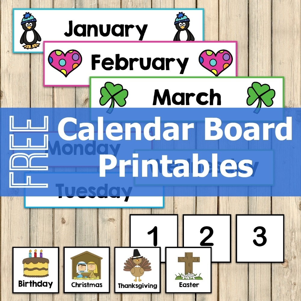 Free Calendar Board Printables - My Joy-Filled Life